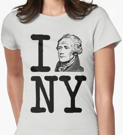 I HAMILTON NEW YORK Alexander Hamilton Greatest City in the World Aaron Burr  Womens Fitted T-Shirt