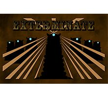 Doctor Who Dalek Exterminate Photographic Print