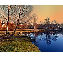 Winter mood on the river IV | waterscape photography Photographic Print
