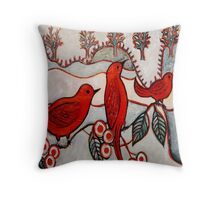 Sophies Birds Throw Pillow