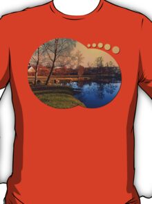 Winter mood on the river IV | waterscape photography T-Shirt