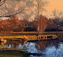 Winter mood on the river IV | waterscape photography Sticker