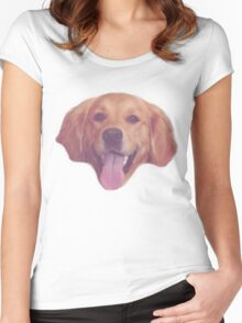 Vintage Doggy Women's Fitted Scoop T-Shirt