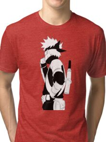 Kid Kakashi Tri-blend T-Shirt