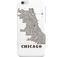 Chicago Neighborhood Map iPhone Case/Skin