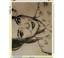 Zoella charcoal portrait. iPad Case/Skin