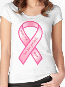 Breast Cancer Support Shirt Women's Fitted Scoop T-Shirt