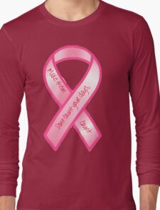Breast Cancer Support Shirt Long Sleeve T-Shirt