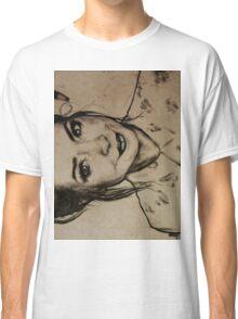 Zoella charcoal portrait. Classic T-Shirt