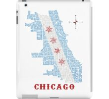 Chicago Flag Neighborhood Map iPad Case/Skin
