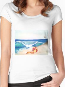 Beach Left Women's Fitted Scoop T-Shirt