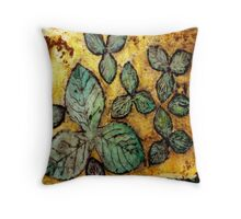 Leafy Summer Days Throw Pillow