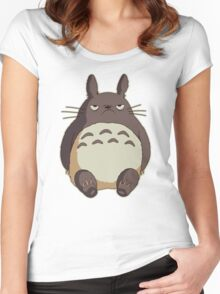Grumpy Totoro Women's Fitted Scoop T-Shirt