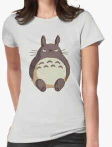 Grumpy Totoro Womens Fitted T-Shirt