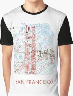 San Francisco Golden Gate Neighborhood Map Graphic T-Shirt