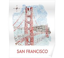 San Francisco Golden Gate Neighborhood Map Poster