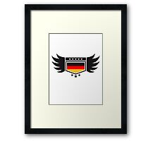 Coat of arms banner wing Germany Framed Print
