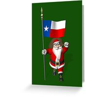 Santa Claus With Flag Of Texas Greeting Card