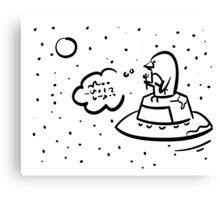 Penguin UFO Canvas Print