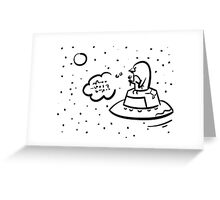Penguin UFO Greeting Card