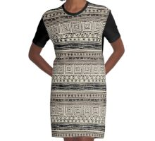 African Geometric Pattern  Graphic T-Shirt Dress