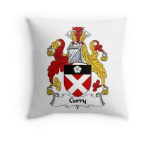 Curry Coat of Arms / Curry Family Crest Throw Pillow