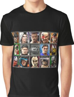 Mortal Kombat 3 Character Select Graphic T-Shirt