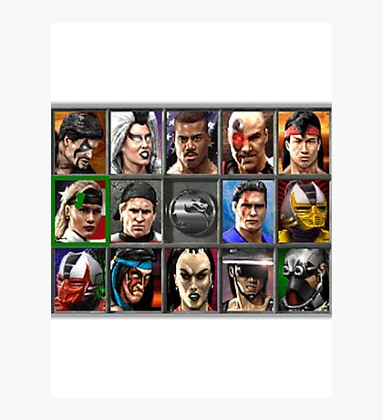 Mortal Kombat 3 Character Select Photographic Print
