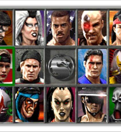 Mortal Kombat 3 Character Select Sticker