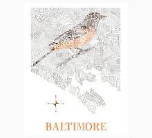 Baltimore City Oriole Neighborhood Map Unisex T-Shirt