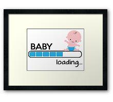 Baby loading... Framed Print