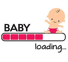 Baby loading... Photographic Print