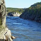 The Mather Gorge at Great Falls Park, VA by Bine