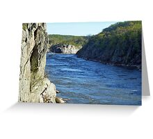 The Mather Gorge at Great Falls Park, VA Greeting Card