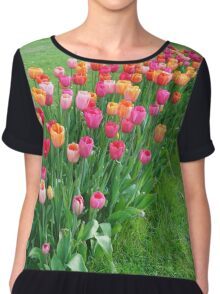 Tulips colours Chiffon Top