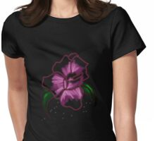 Rose Lady Flower Womens Fitted T-Shirt