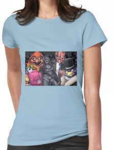 The Bad Guy are here Womens Fitted T-Shirt