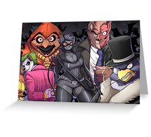The Bad Guy are here Greeting Card
