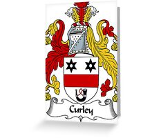 Curley Coat of Arms / Curley Family Crest Greeting Card