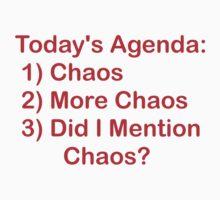 Today's Agenda: Chaos Kids Tee
