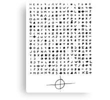 The Zodiac Killer Cypher Canvas Print