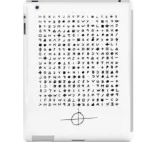 The Zodiac Killer Cypher iPad Case/Skin