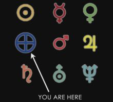 You Are Here - Planets T shirt by BlueShift