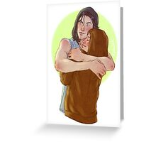 Sirius and Mystery girl Greeting Card