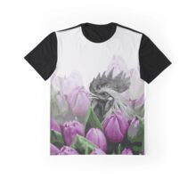 Rooster Visit the Botanical Garden  Graphic T-Shirt