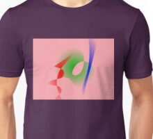 Salmon Pink Simple Abstract Art Unisex T-Shirt