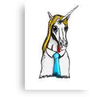 Business Derpicorn Canvas Print