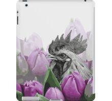 Rooster Visit the Botanical Garden  iPad Case/Skin