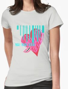 Live, Love, Smile Womens Fitted T-Shirt