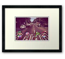 Abbey Road Mario Edition 2 Framed Print